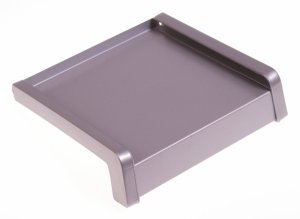 Parapet zewnętrzny stalowy srebrny RAL 9006 150mm 1mb
