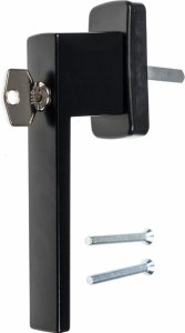 Kwadrat klucz czarna 38mm klamka okienna do okien