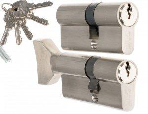 Wkładki CAM EKO 30/45+45/30g gałka komplet 1 klucz