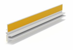 Listwa przyokienna Apu z uszczelką biała 2,5m