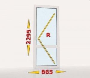 Drzwi balkonowe PCV 865x2295 rozwierne prawe białe
