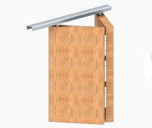 Zestaw okuć + szyna drzwi łamanych APOLLO 2/806mm