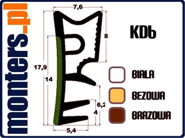Uszczelka do okien drewnianych KD6 biała 1m.