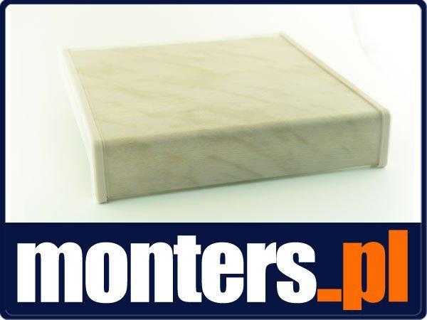 Parapet wewnętrzny plastikowy PCV marmurek 200mm 1mb