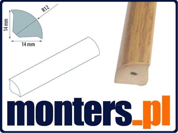 Ćwierćwałek listwa do okien 14x14mm dąb 104 2,5m.