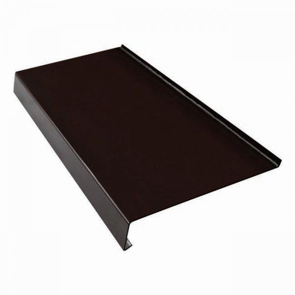 Parapet zewnętrzny stalowy blacha brąz 8019 225mm 1mb