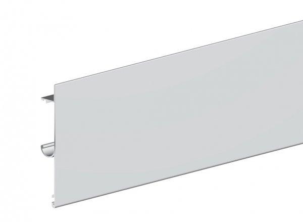 Maskownica do prowadnicy H2 drzwi 2000mm srebrna płaska herkules