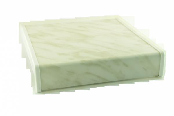 Parapet wewnętrzny plastikowy PCV marmurek 300mm 1mb