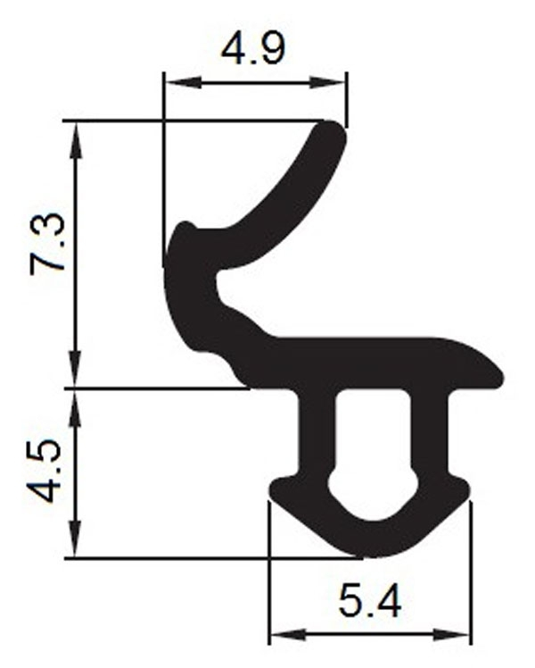 Uszczelka do okien KBE Czarna KBE-1 (s618) 1m.