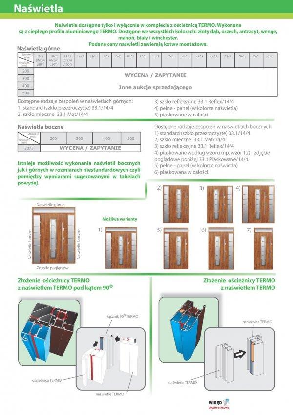 Drzwi wejściowe zewnętrzne Wikęd Premium wzór 1