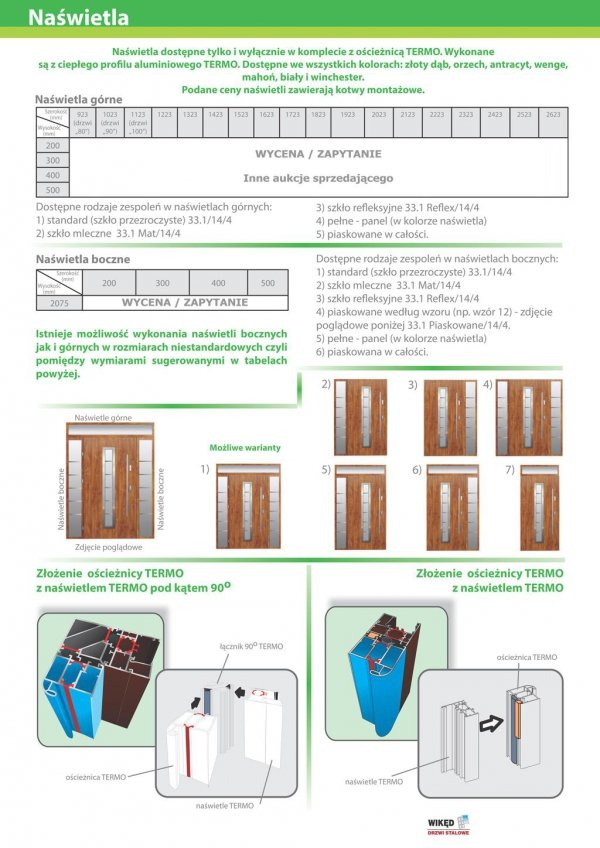 Drzwi wejściowe zewnętrzne Wikęd Premium wzór 34