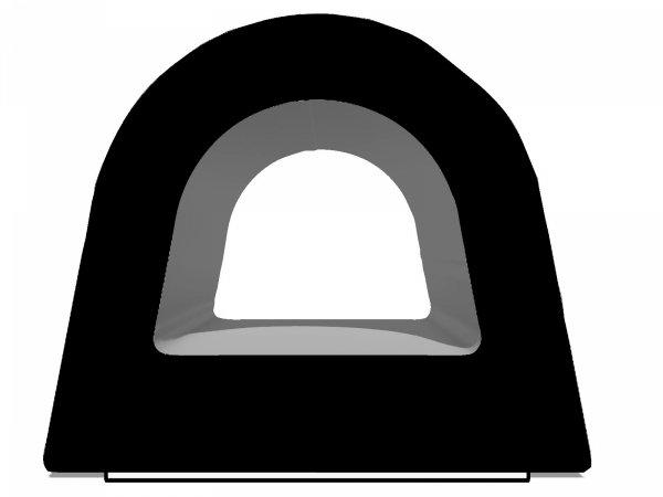 Uszczelka D 14x12 samoprzylepna czarna (SD-55) 40m