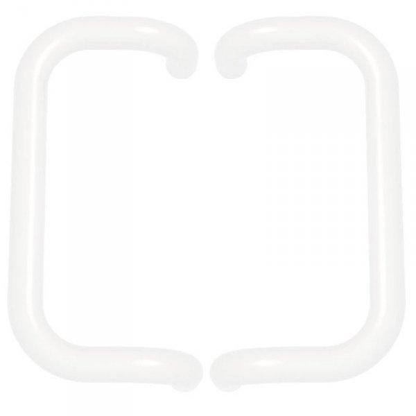 Pochwyt obustronny prostokątny biały 9016 300mm