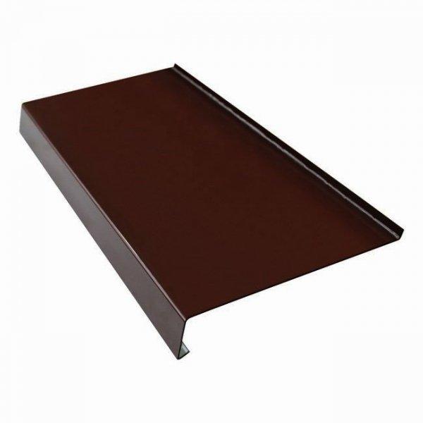Parapet zewnętrzny stalowy blacha brąz 8017 90mm 1mb