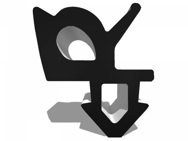 Uszczelka do okien Rehau rama Czarna KR12 (s1387f) 1m.