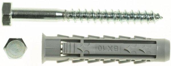 BX10+KL6X80/100 Kołek rozporowy BX+wkręt na klucz
