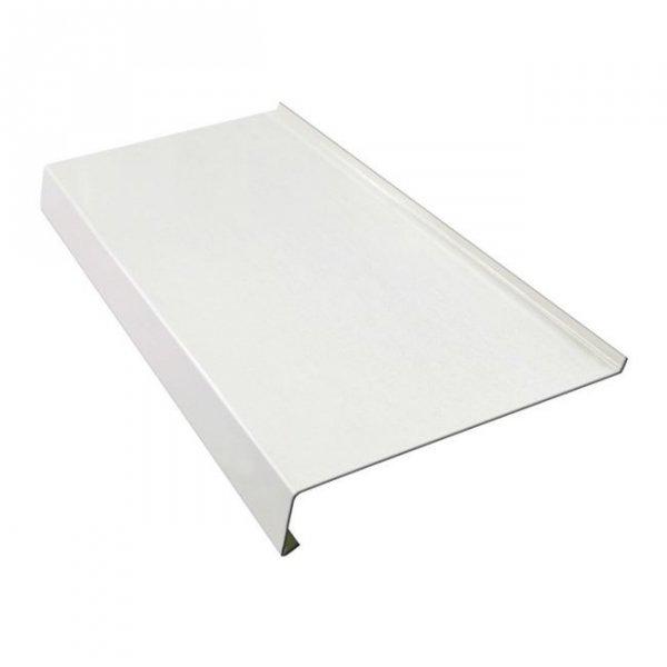 Parapet zewnętrzny stalowy blaszany biały 125mm 1mb