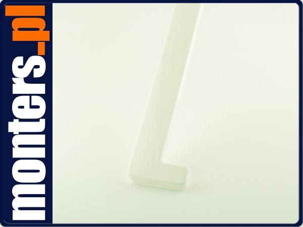 Końcówka do parapetu zaślepka PCV biała