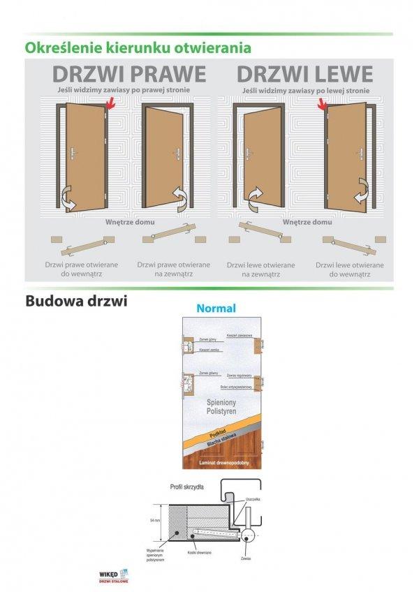 Drzwi wejściowe zewnętrzne Wikęd Premium wzór 16