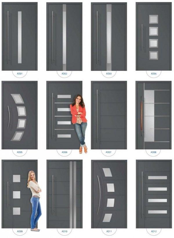 Drzwi wejściowe zewnętrzne Aluprof MB86 wzór AD01