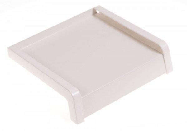Parapet zewnętrzny stalowy blaszany biały 400mm 1mb