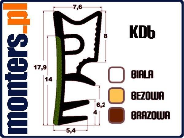 Uszczelka do okien drewnianych KD6 brązowa 1m.
