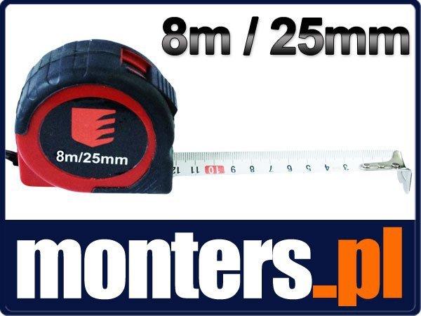 Miara zwijana taśma miernicza miarka Beast 8mx25mm