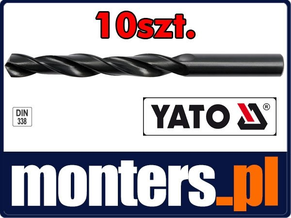 Wiertło do stali metalu hss 6mm YATO 4445 10szt