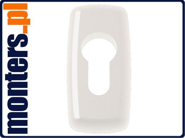 Rozeta Mercury pod wkładkę do drzwi alu biała 9016