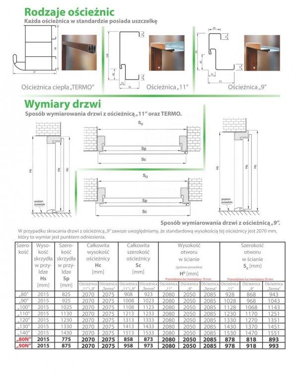 Drzwi wejściowe zewnętrzne Wikęd Premium wzór 34b