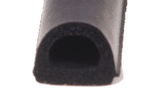 Uszczelka D 14x12 samoprzylepna czarna (SD-55) 1m.