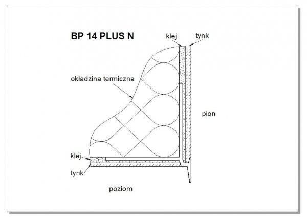 Listwa okapnikowa z siatką kapinos PLUSN 250cm