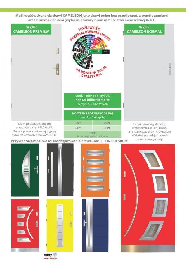 Drzwi wejściowe zewnętrzne Wikęd Premium wzór 11