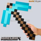 [MAC-81] Minecraft™ Diamond Pickaxe Oryginalny Kilof z Pianki Replika 1:1