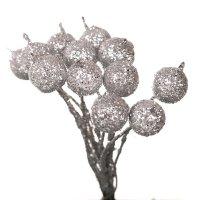 Owoc Jarzębiny Brokatowy Srebro Pik [Komplet 10 pęczków] 602919