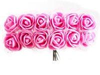 Różyczki z Pianki Na Druciku Jasno Różowe [Zestaw - 5 kompletów po 144 szt]