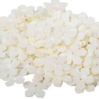 Cekiny Kwiatki Nacinane Ecru - [ Komplet - 20 sztuk]