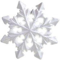 Śnieżynka styropianowa 19cm 3D [Komplet 30szt]
