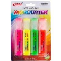 Neonowe Zakreślacze 4kolory - [Zestaw - 5 Opakowań]