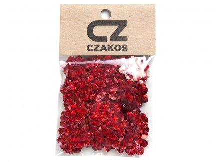 Cekiny Kwiatki 14mm Szkolne Czerwone - [ Komplet - 20 sztuk]