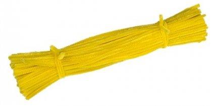 Druciki kreatywne ciepło żółty - 5 paczek po 100szt.