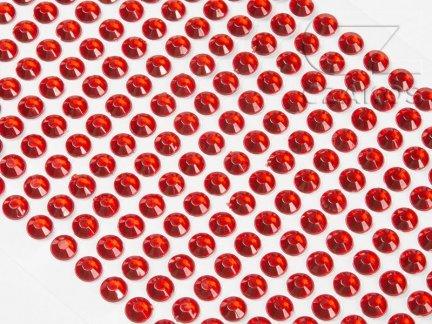 Kryształki samoprzylepne 3mm Czerwony [10 Blistrów]