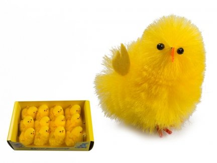 Kurczak Wielkanocny Duży 10cm Stroik [ Komplet - 12 sztuk]