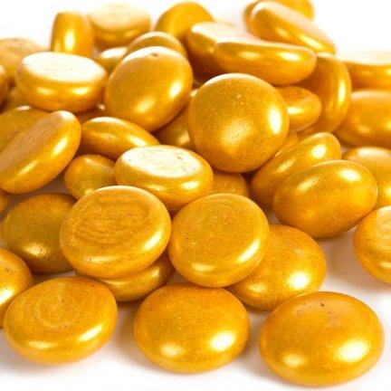 Kamienie Dekoracyjne Płaskie Złote [Komplet - 20 Woreczków] 120526