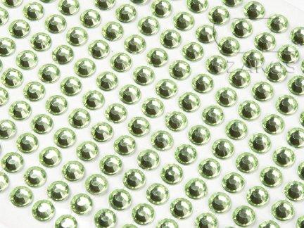 Kryształki samoprzylepne 3mm Zielony [10 Blistrów]