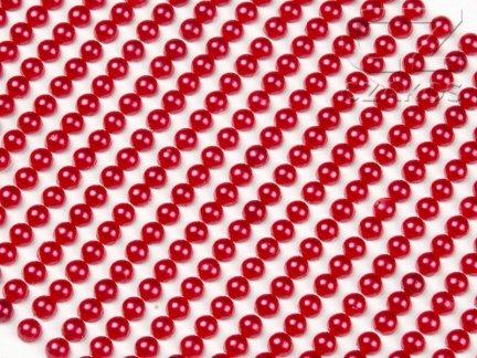 Perełki samoprzylepne 3mm Czerwony [10 Blistrów]