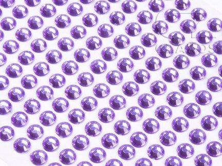 Kryształki samoprzylepne 4mm Wrzos  [10 Blistrów]