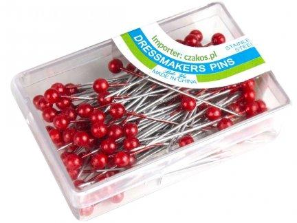 Szpilki z Perełką Kolor Czerwony 100 pudełek