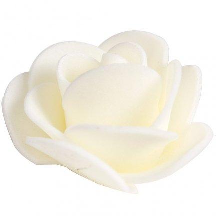 Różyczki z Pianki Ecru 35mm [Zestaw - 10 kompletów po 20 szt]