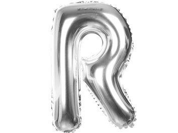 Balony Foliowe Literka R Srebrna 40cm - [ Komplet - 20 sztuk]